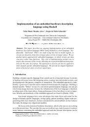 Implementation of an embedded hardware description language ...