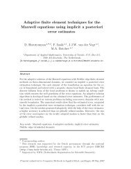Adaptive finite element techniques for the Maxwell equations using ...