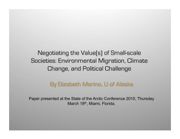 Environmental Migration, Climate Change, and Political Challenge