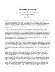 The Right of Ascendancy - The Blotter