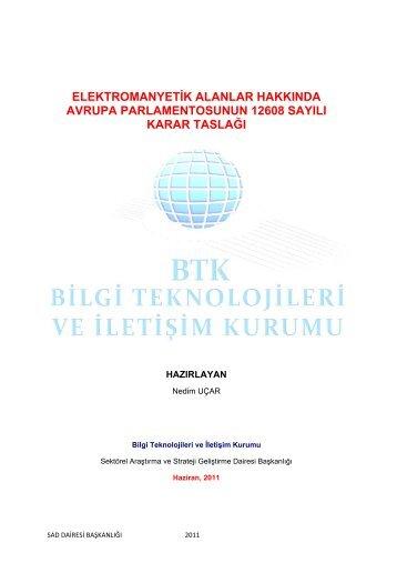 elektromanyetik alanlar hakkında avrupa parlamentosunun 12608 ...