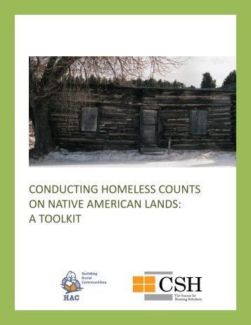 Conducting Homeless Counts on Native American Lands - A Toolkit