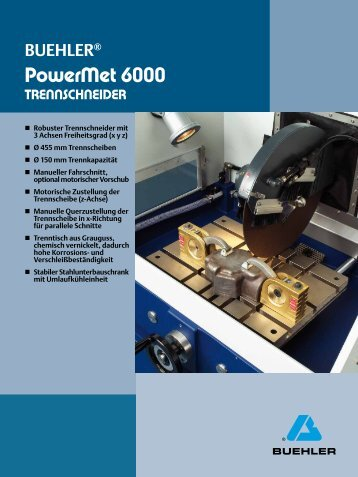 PowerMet 6000 - Buehler GmbH