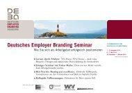 Info und Anmeldung hier - Deutsche Employer Branding Akademie