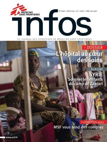 MSF Infos Juillet 2013 - Médecins Sans Frontières