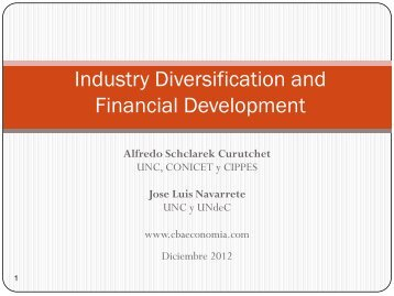 Industry Diversification, Financial Development and Growth with ...