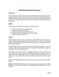 IAMSE Medical Education Scholar Award