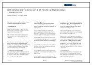 Beregning og tilskrivning af rente - Danske Bank