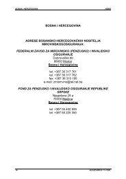 Bosna i Hercegovina - Hrvatski zavod za mirovinsko osiguranje