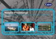 Investor Presentation - The Group