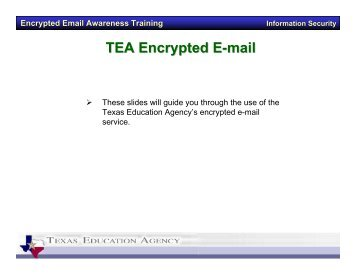 Encrypted Email Instructions