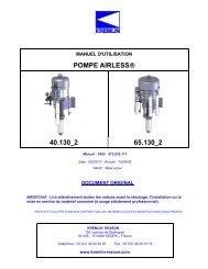 POMPE AIRLESS® 40.130_2 65.130_2 - Kremlin Rexson Sames