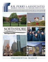 Executive Search Profile - North Shore Community College