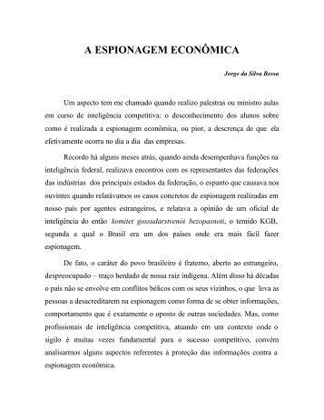 A ESPIONAGEM ECONÔMICA - Fiesc