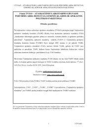 3-iasis TVSAS – Ataskaitinio laikotarpio grynasis perviršis arba ...