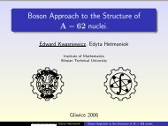 Boson Approach to the Structure of A = 62 nuclei.