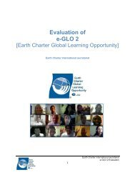 Evaluation of e-GLO 2 - Earth Charter Initiative