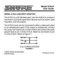 Model A15LA User Guide - Now Sound