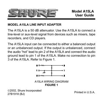Model A15LA User Guide - Now Sound