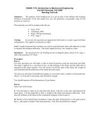Lab 4 Bending Test - Cornell University