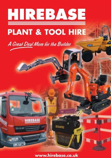 PLANT & TOOL HIRE www.hirebase.co.uk - Buildbase Builders ...