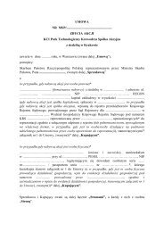 KCI Park Technologiczny Krowodrza S.A. - Ministerstwo Skarbu ...