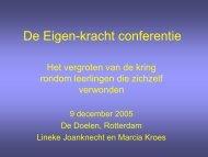 De Eigen-kracht conferentie: het vergroten van de ... - swphost.com
