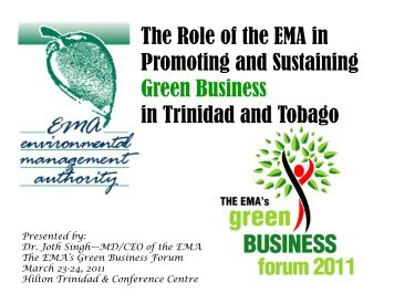 The EMA's Role in Promoting and Sustaining Green Business in ...