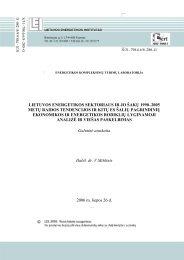 lietuvos energetikos sektoriaus ir jo šakų 1990–2005 metų raidos ...