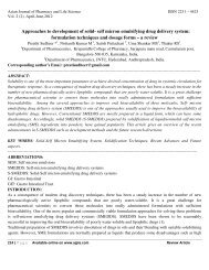 self micron emulsifying drug delivery system - Asian Journal of ...