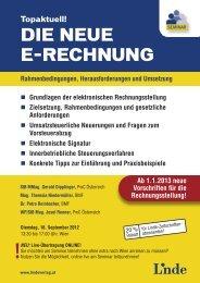 Topaktuell! DIE NEUE E-RECHNUNG - Linde Verlag