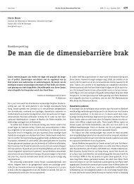 De man die de dimensiebarriere brak - Nieuw Archief voor Wiskunde