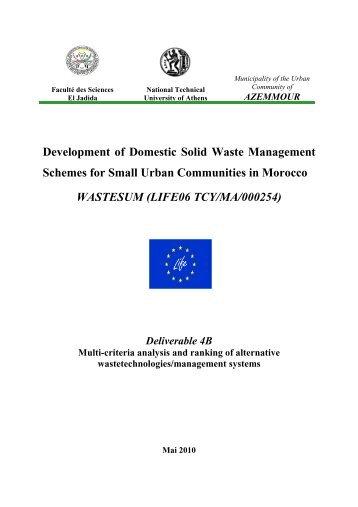 Deliverable 4B - MSW evaluation _FR_