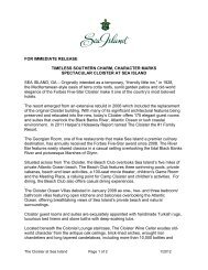 FOR IMMEDIATE RELEASE TIMELESS SOUTHERN ... - Sea Island