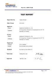 TEST REPORT - Samsung CCTV