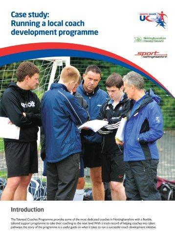 Running a local coach development programme - sports coach UK