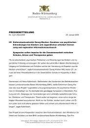 Presseerklärung vom 29.01.2009 - www.gesunde-schule-bw.de