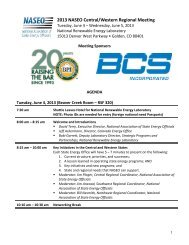 Final Agenda - National Association of State Energy Officials