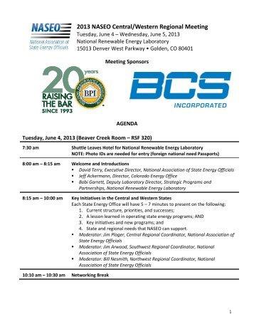Final Agenda - National Association of State Energy Officials