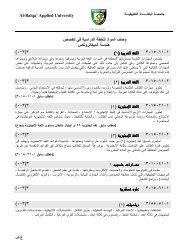 ﻓﻲ ﺘﺨ ﺼ ص و ﺼ ف اﻟﻤواد ﻟﻟﺨطﺔ اﻟدراﺴﻴﺔ اﻟﻤﻴﮐﺎﺘروﻨﮐ س ﻫﻨدﺴ - جامعة البلقاء ...