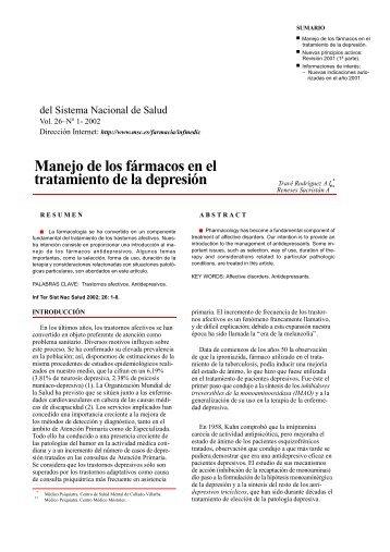 Manejo de los fármacos en el tratamiento de la depresión (PDF)