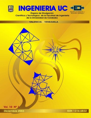 Vol. 10, No. 3, Diciembre 2003 - Facultad de Ingeniería