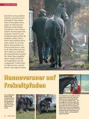 FS-Reitzentrum: Freizeitreiten mit Anspruch - Hannoveraner Verband