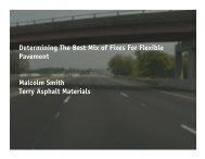 Mix of Fixes for Asphalt Roads Presentation