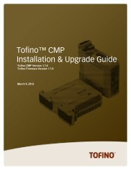 Tofino CMP Installation and Upgrade Guide - SCADAhacker