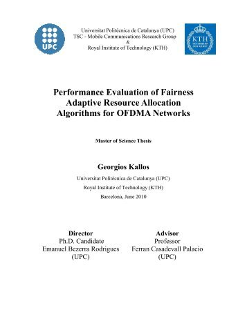 Performance Evaluation of Fairness Adaptive ... - UPCommons