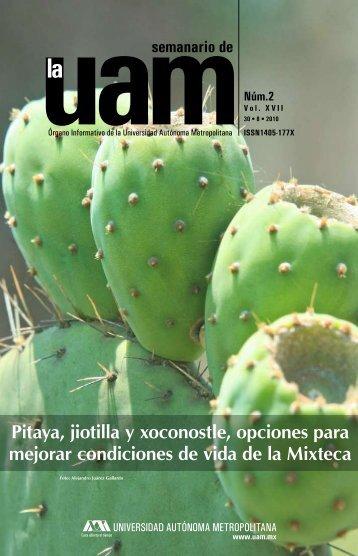 Pitaya, jiotilla y xoconostle, opciones para mejorar - UAM ...