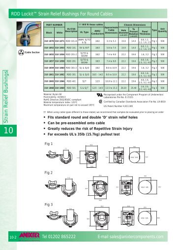 to download further information on this product - Anixter Components