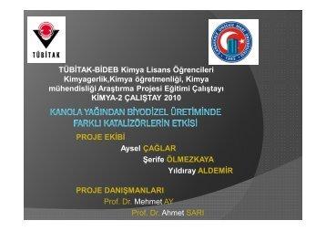 TÜBİTAK-BİDEB Kimya Lisans Öğrencileri Kimyagerlik,Kimya ...