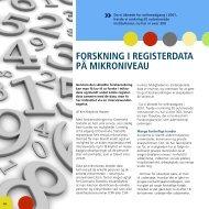 ForsknIng I rEgIsTErdATA på MIkronIvEAu - Danmarks Statistik